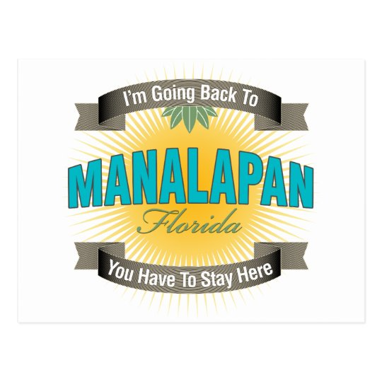 I'm Going Back To (Manalapan) Postcard