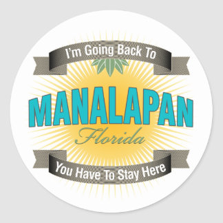 I'm Going Back To (Manalapan) Round Stickers