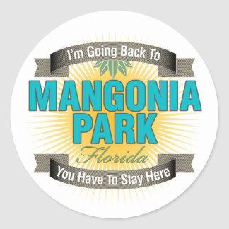 I'm Going Back To (Mangonia Park) Round Sticker