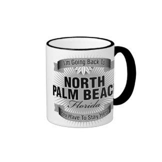 I'm Going Back To (North Palm Beach) Ringer Coffee Mug