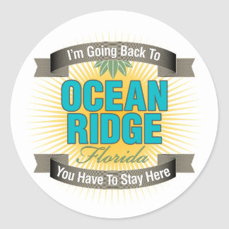I'm Going Back To (Ocean Ridge) Classic Round Sticker