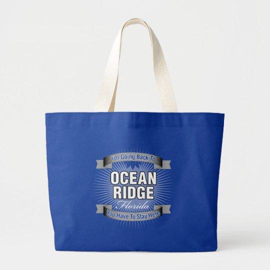 I'm Going Back To (Ocean Ridge) Large Tote Bag