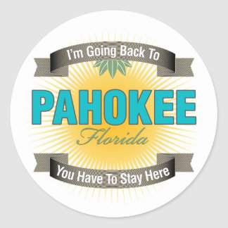 I'm Going Back To (Pahokee) Classic Round Sticker