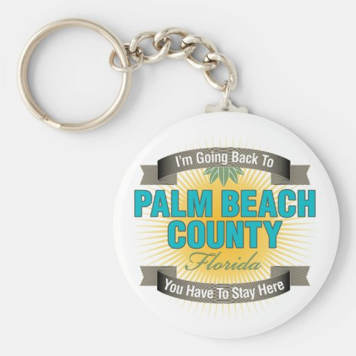 I'm Going Back To (Palm Beach County) Basic Round Button Keychain