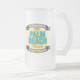 I'm Going Back To (Palm Beach) Frosted Glass Beer Mug