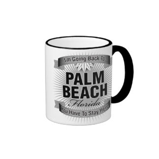 I'm Going Back To (Palm Beach) Ringer Mug