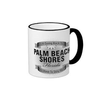 I'm Going Back To (Palm Beach Shores) Ringer Coffee Mug