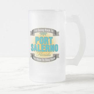 I'm Going Back To (Port Salerno) Frosted Glass Beer Mug