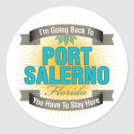 I'm Going Back To (Port Salerno) Classic Round Sticker