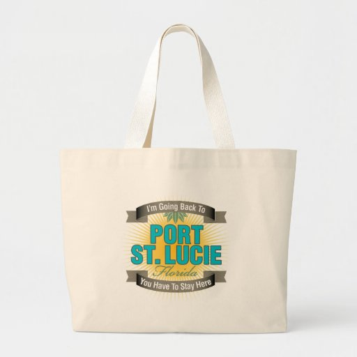 I'm Going Back To (Port St. Lucie) Tote Bags