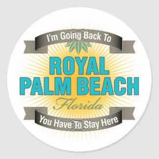 I'm Going Back To (Royal Palm Beach) Classic Round Sticker