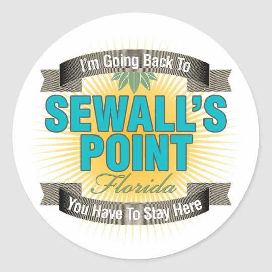 I'm Going Back To (Sewall's Point) Classic Round Sticker