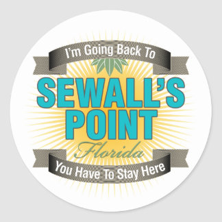 I'm Going Back To (Sewall's Point) Round Stickers