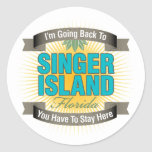 I'm Going Back To (Singer Island) Round Stickers