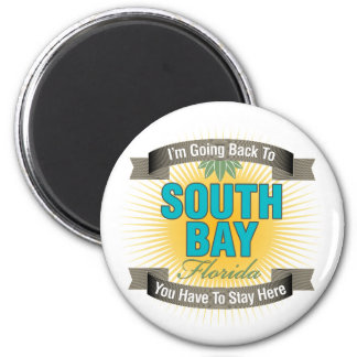 I'm Going Back To (South Bay) 2 Inch Round Magnet