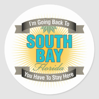 I'm Going Back To (South Bay) Round Stickers