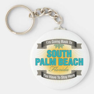 I'm Going Back To (South Palm Beach) Basic Round Button Keychain