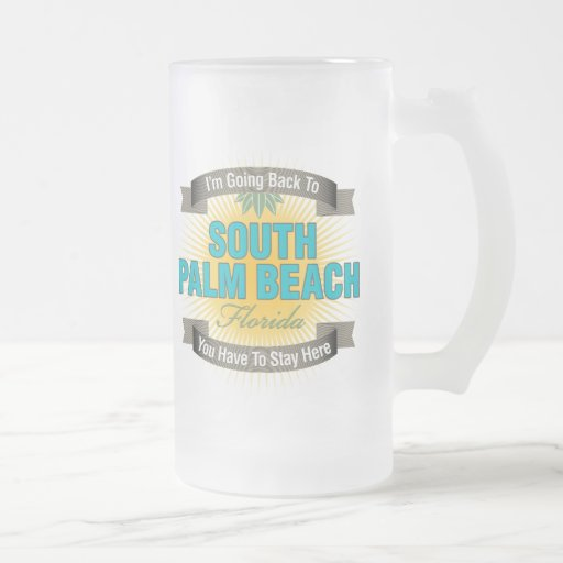 I'm Going Back To (South Palm Beach) 16 Oz Frosted Glass Beer Mug