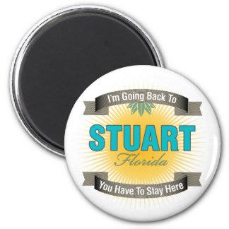 I'm Going Back To (Stuart) 2 Inch Round Magnet
