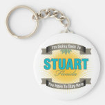 I'm Going Back To (Stuart) Basic Round Button Keychain