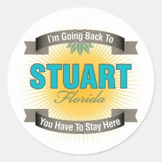 I'm Going Back To (Stuart) Classic Round Sticker