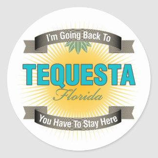 I'm Going Back To (Tequesta) Classic Round Sticker