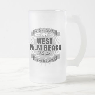 I'm Going Back To (West Palm Beach) Frosted Glass Beer Mug