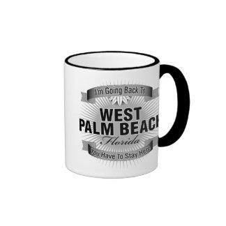 I'm Going Back To (West Palm Beach) Ringer Coffee Mug