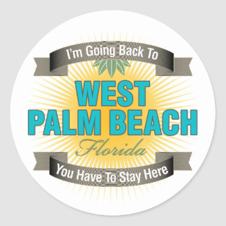 I'm Going Back To (West Palm Beach) Sticker