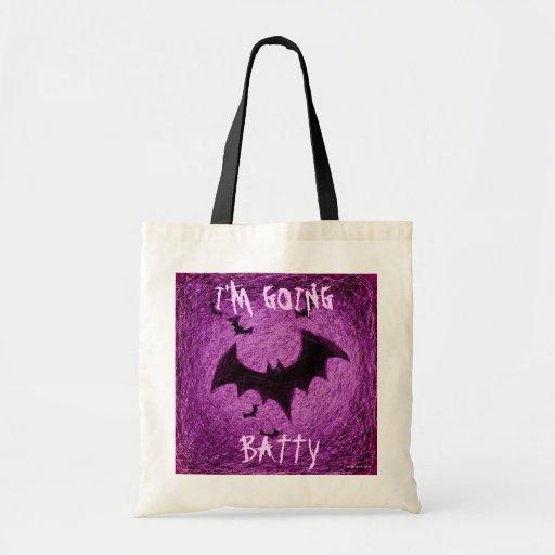 I'm Going Batty Halloween Bag Pink Bat
