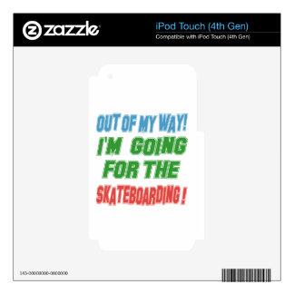 I'm going for the Skateboarding. Skin For iPod Touch 4G
