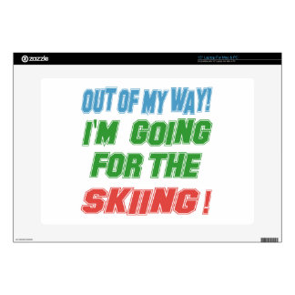 """I'm going for the Skiing. Decals For 15"""" Laptops"""