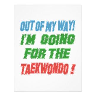 I'm Going For The Taekwondo. Customized Letterhead