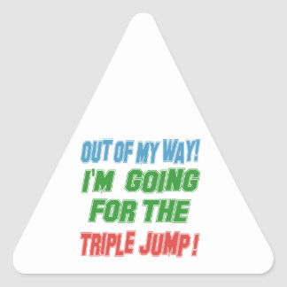 I'm going for the Triple jump. Triangle Sticker