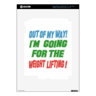 I'm going for the Weight Lifting. iPad 3 Skin