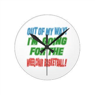 I'm going for the Wheelchair Basketball. Round Wallclocks