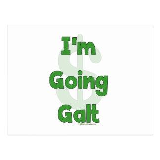I'm Going Galt Postcard