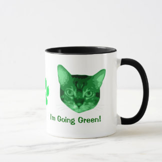 Im Going Green Kitty Mug