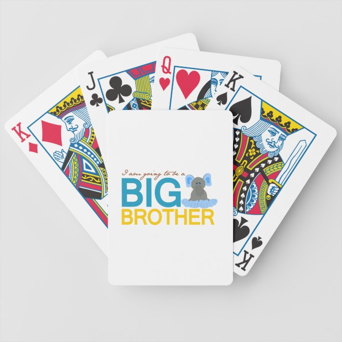 I'm Going to be a Big Brother Elephant Bicycle Playing Cards