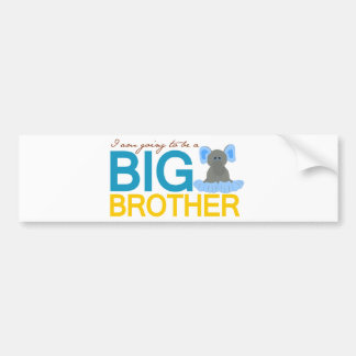 I'm Going to be a Big Brother Elephant Car Bumper Sticker