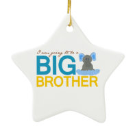 I'm Going to be a Big Brother Elephant Ornament