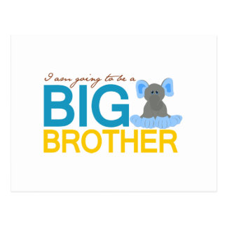 I'm Going to be a Big Brother Elephant Postcard