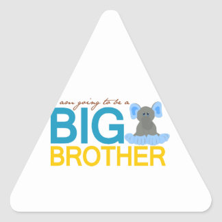 I'm Going to be a Big Brother Elephant Triangle Sticker