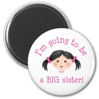 Im going to be a big sister - asian girl 2 inch round magnet
