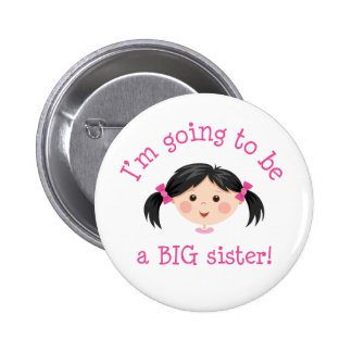 Im going to be a big sister - asian girl button
