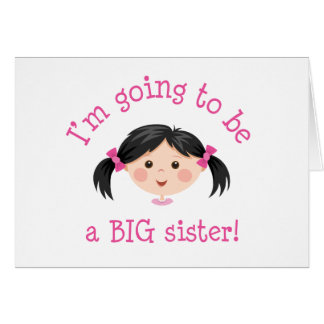 Im going to be a big sister - asian girl card