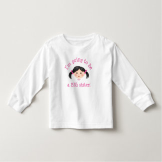 Im going to be a big sister - asian girl toddler t-shirt