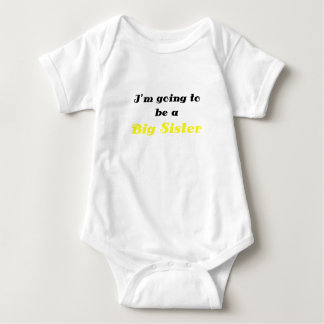 Im Going to be a Big Sister Baby Bodysuit