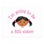 Im going to be a big sister - black hair dark skin post cards