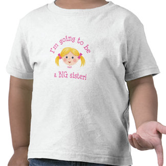 Im going to be a big sister - blond hair t-shirt